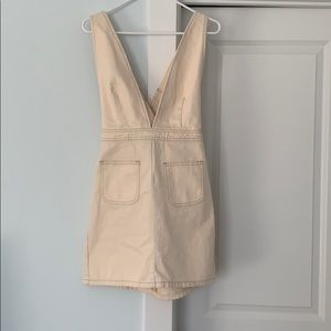 Urban Outfitter Tan Overall Dress